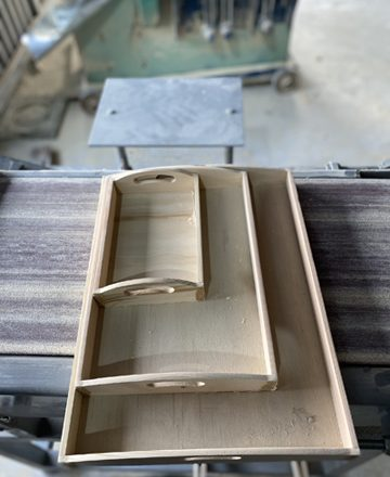 Wood food serving tray