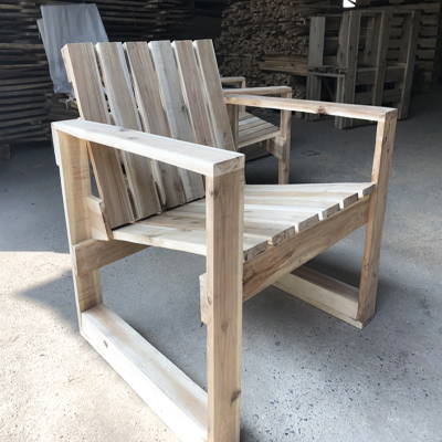 RUSTIC WOODEN CHAIR STURDY